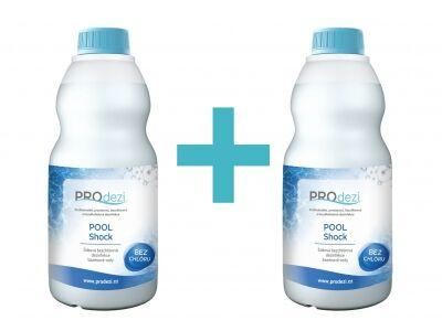 PROdezi POOL Shock1l   AKCE 1+1   - bezchlórová bazénová chemie pro šokovou dezinfekci vody