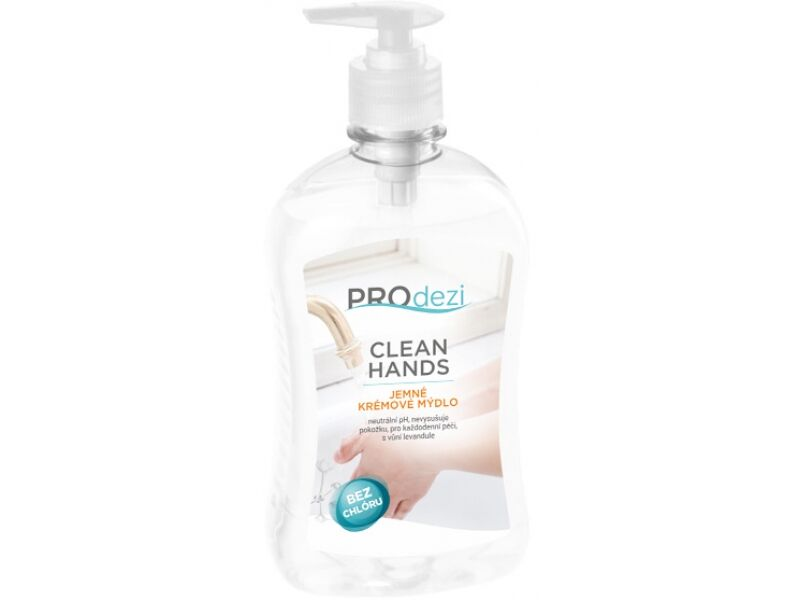PROdezi CLEAN HANDS 0,5l - jemné krémové mýdlo
