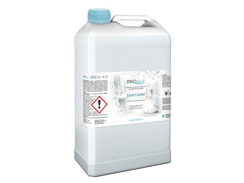 PROdezi SANITÁRNÍ 5l - odstraňovač vodního kamene - bezchlórová dezinfekce povrchů